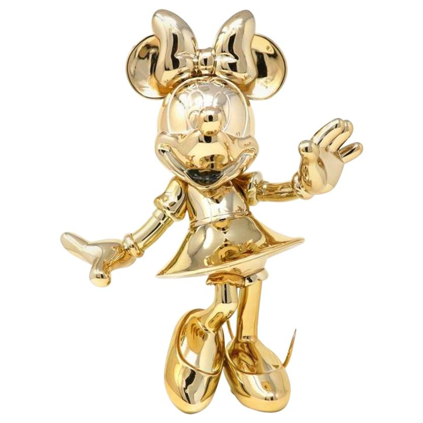 In Stock in Los Angeles, Minnie Mouse Gold Metallic, Pop Sculpture Figurine