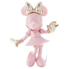 In Stock in Los Angeles, Minnie Mouse Pink / Gold Glossy Pop Sculpture Figurine