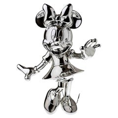 In Stock in Los Angeles, Minnie Mouse Silver Metallic, Pop Sculpture Figurine