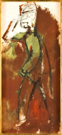 The Soldier - Original Tempera by M. Maccari - 1950s