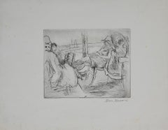 At the Sea - Original Etching and Drypoint by Mino Maccari - 1925/1930