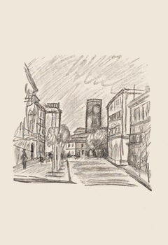 City - Original Zincography by Mino Maccari - 1970s