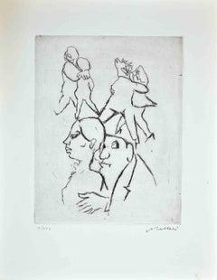 Dance - Original Print by Mino Maccari - 1970s