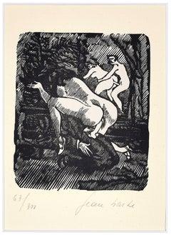 Erotism - Linocut on Paper by Jean Barbe / Mino Maccari - 1945