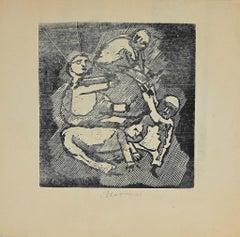 Figures - Original Drypoint by Mino Maccari - 1945