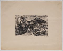 Landscape - Original Woodcut Print on Paper by Mino Maccari - Early 20th Century