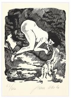 Pleasure - Linocut on Paper by Jean Barbe / Mino Maccari - 1945