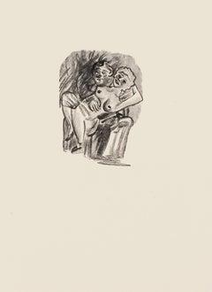Sexual Attraction - Original Zincography by Mino Maccari - 1970s