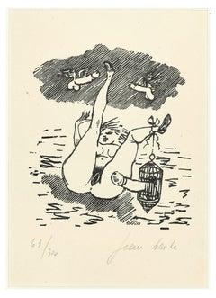 Sexual Desire - Linocut on Paper by Jean Barbe / Mino Maccari - 1945