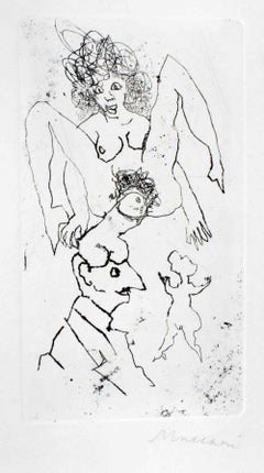 Sexual - Original Etching and Drypoint by Mino Maccari - 1960s