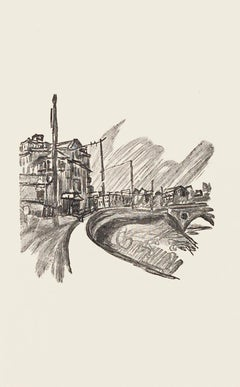 The Road - Original Zincography by Mino Maccari - 1970s