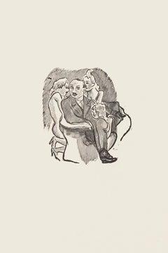 Womaniser - Original Zincography by Mino Maccari - 1970s