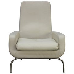 """Minotti """"Dubuffet"""" Armchair in Ivory Leather by Rodolfo Dordoni"""