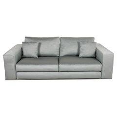 Minotti Hamilton Fabric Sofa Green Two Seater Couch