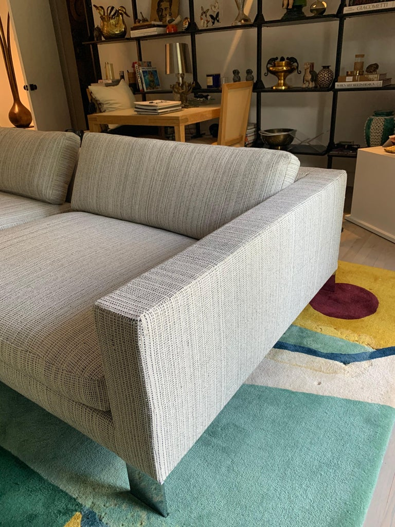 Minotti Labelled Two-Piece Deep Sofa For Sale 3