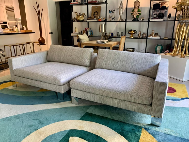 Minotti Labelled Two-Piece Deep Sofa For Sale 8