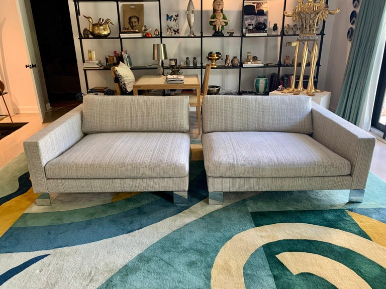 Minotti Labelled Two-Piece Deep Sofa For Sale 9