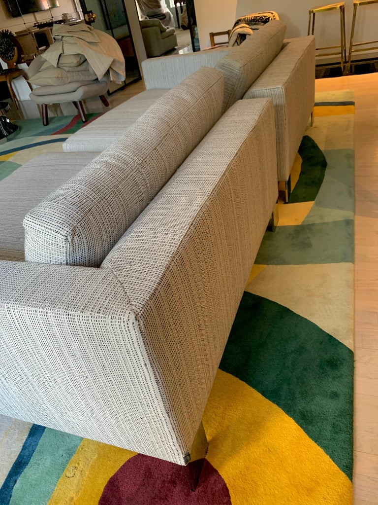 Minotti Labelled Two-Piece Deep Sofa For Sale 11