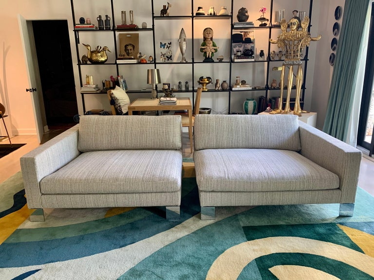 Post-Modern Minotti Labelled Two-Piece Deep Sofa For Sale