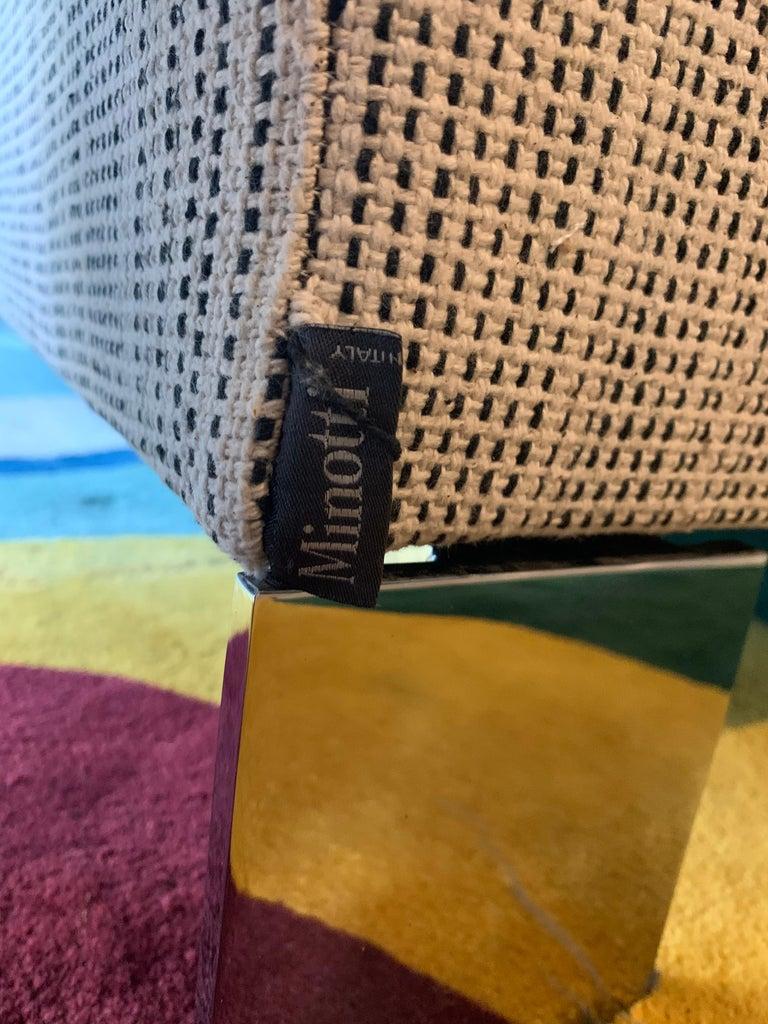 Italian Minotti Labelled Two-Piece Deep Sofa For Sale