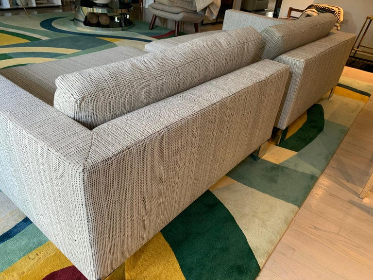 Minotti Labelled Two-Piece Deep Sofa In Good Condition For Sale In East Hampton, NY