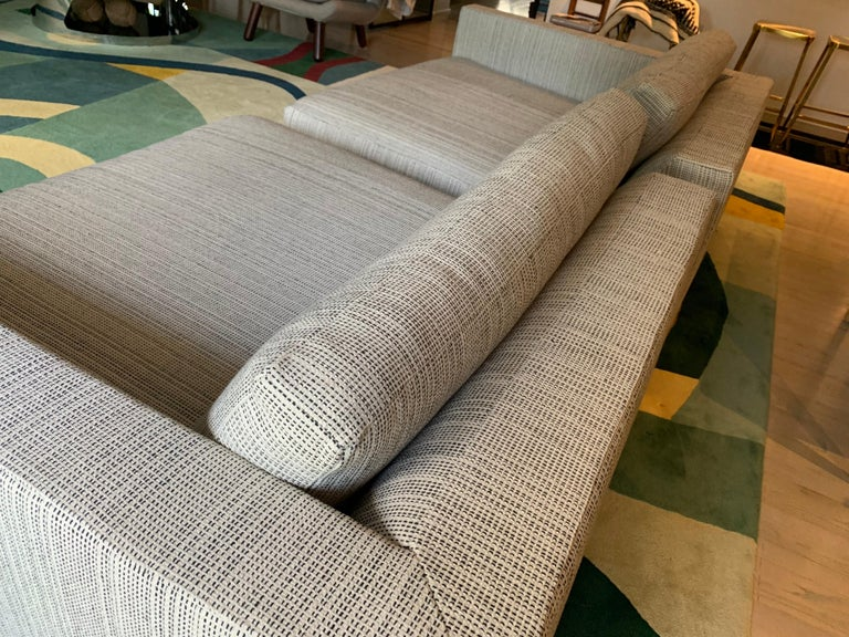 Late 20th Century Minotti Labelled Two-Piece Deep Sofa For Sale