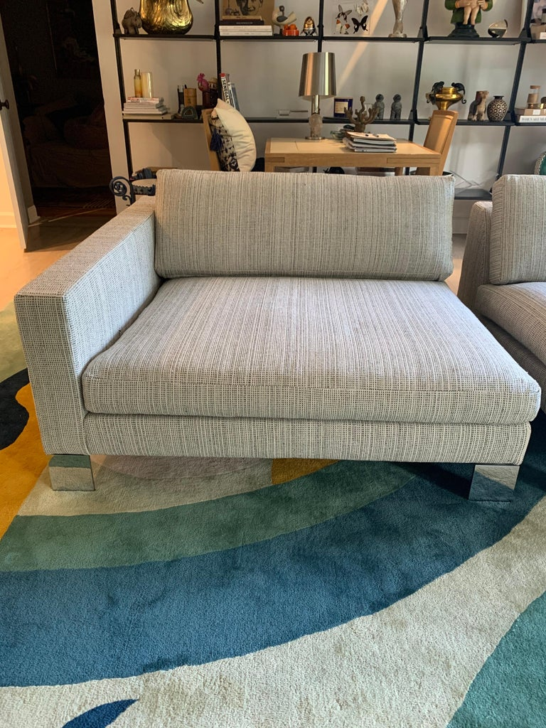 Minotti Labelled Two-Piece Deep Sofa For Sale 1