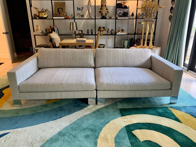Minotti Labelled Two-Piece Deep Sofa For Sale 2