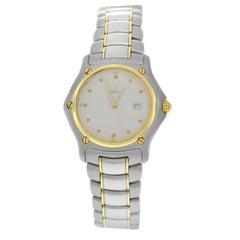 Mint Authentic Ladies Ebel Steel 18 Karat Gold Date Quartz Watch