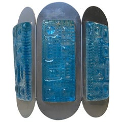 Mint Blue Wall Sconce from Vitrika, 1960s