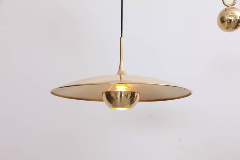 Mid-20th Century Mint Florian Schulz Onos Polished Brass with Side Counterweight For Sale
