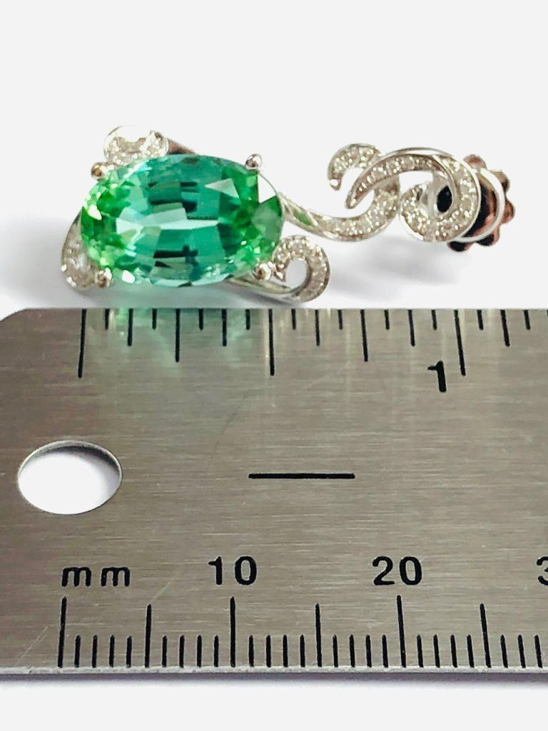 Contemporary Green Tourmaline Earrings 11.66 Carats Total For Sale