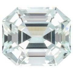Mint Green Tourmaline Ring Gem 10.28 Carat Emerald Cut Loose Gemstone