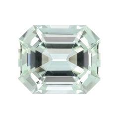Mint Green Tourmaline Ring Gem 13.77 Carat Emerald Cut Loose Gemstone