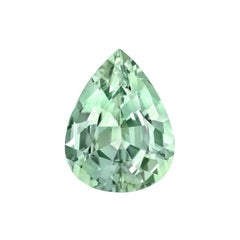 Mint Green Tourmaline Ring Gem 4.96 Carat Unset Pear Shaped Loose Gemstone