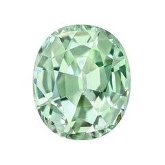 Mint Green Tourmaline Ring Gem 5.46 Carat Oval Loose Gemstone