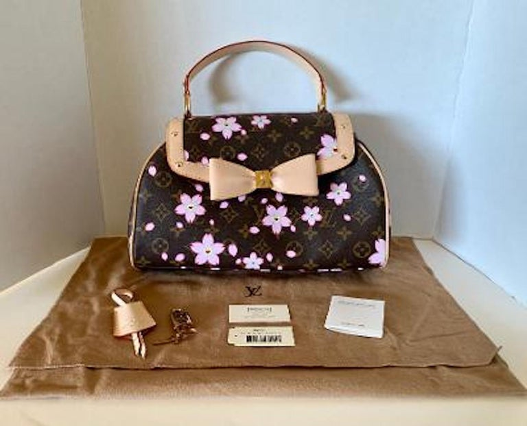 Mint Louis Vuitton Takashi Murakami Limited Edition Retro Cherry Blossom Purse  For Sale 7