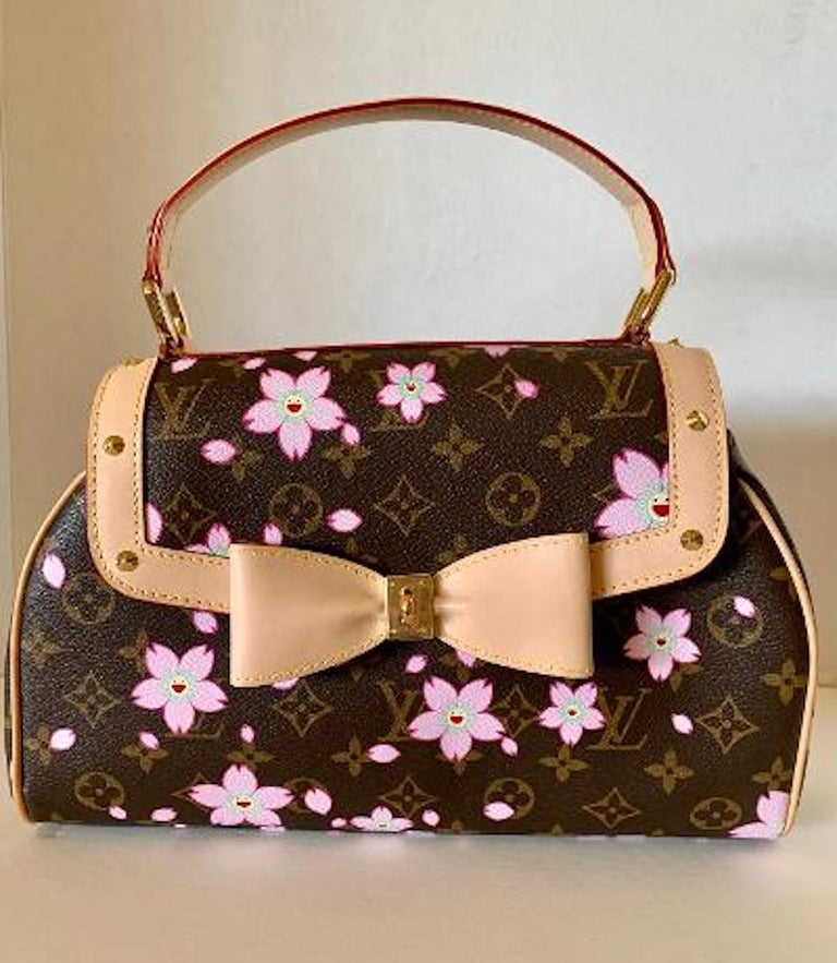 Mint Louis Vuitton Takashi Murakami Limited Edition Retro Cherry Blossom Purse  For Sale 8
