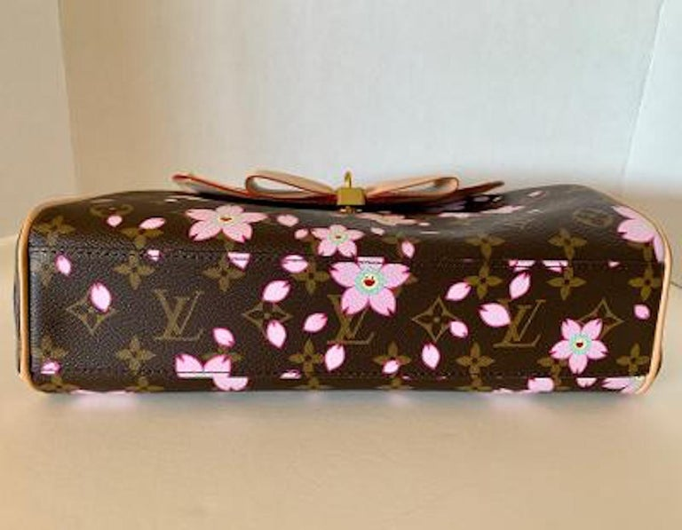 Women's Mint Louis Vuitton Takashi Murakami Limited Edition Retro Cherry Blossom Purse  For Sale
