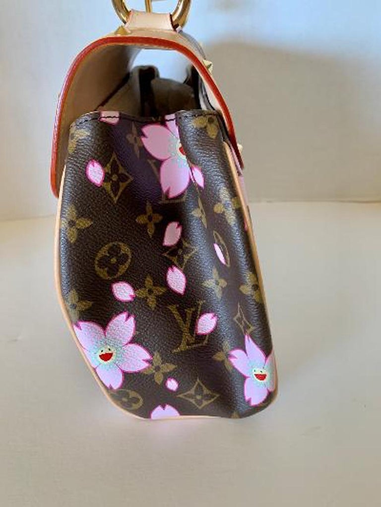 Mint Louis Vuitton Takashi Murakami Limited Edition Retro Cherry Blossom Purse  For Sale 2
