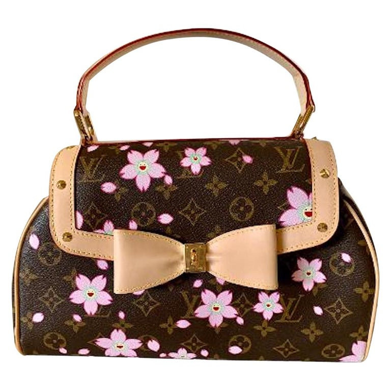 Mint Louis Vuitton Takashi Murakami Limited Edition Retro Cherry Blossom Purse  For Sale
