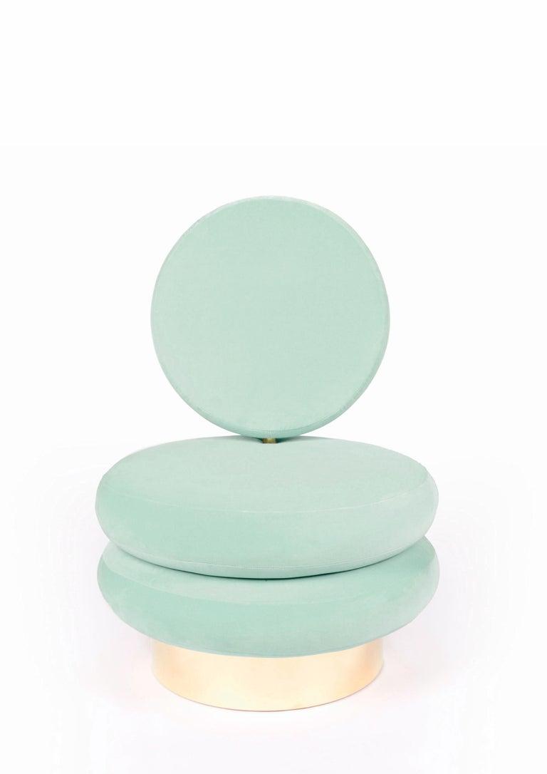 Portuguese Mint Marshmallow Single Sofa, Royal Stranger For Sale