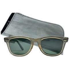 Mint Ray Ban Wayfarer 5024 1970's Translucent Grey Lenses B&L USA Sunglasses