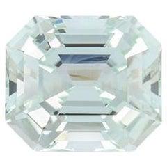 Mint Tourmaline Ring Gem 7.91 Carat Emerald Cut Loose Gemstone