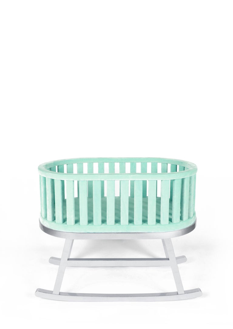 Modern Mint Velvet Green Cradle by Royal Stranger For Sale
