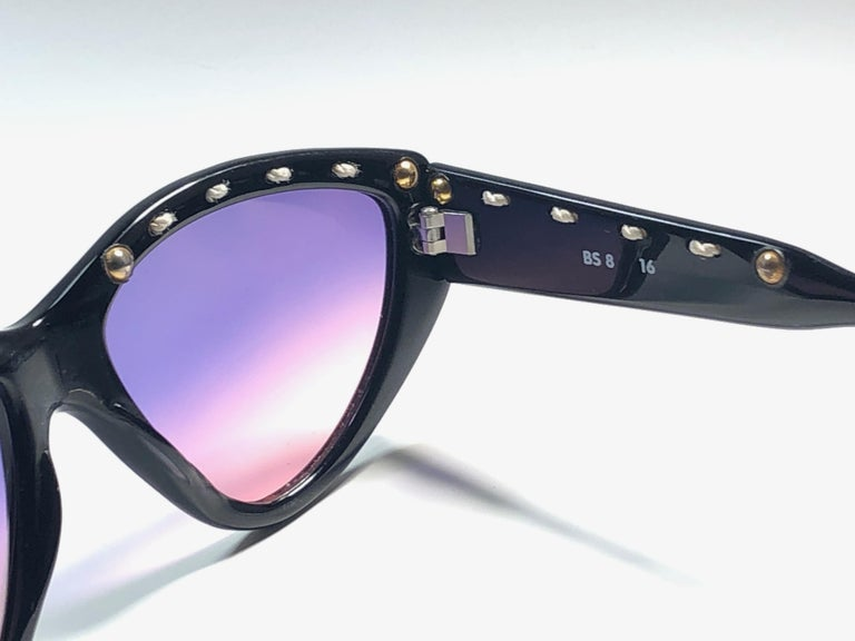 Purple Mint Vintage Balenciaga BS8 1980's Sunglasses Made in France For Sale