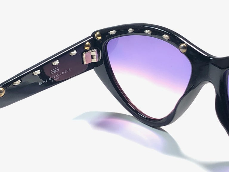Mint Vintage Balenciaga BS8 1980's Sunglasses Made in France In New Condition For Sale In Amsterdam, Noord Holland