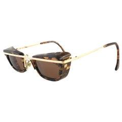 Mint Vintage Rare Alain Mikli 4103 624 Black & Brown Undertones Sunglasses 1990