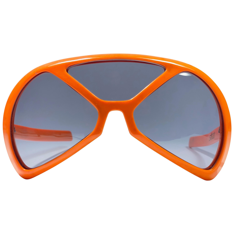 Mint Vintage Rare Silhouette Futura 570 Orange Collector Item 1970 Sunglasses