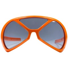 Mint Vintage Rare Silhouette Futura 570 Orange Collector Item 1970 Sunglasses